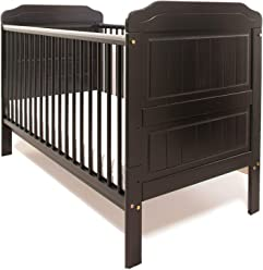 """140x70x10cm New Stanley Baby Antique Pine Honey Colour Cot Bed//Junior Bed//Toddler Bed ECO HD Airflow Foam-Free Nursery Fibre Mattress 4/"""""""
