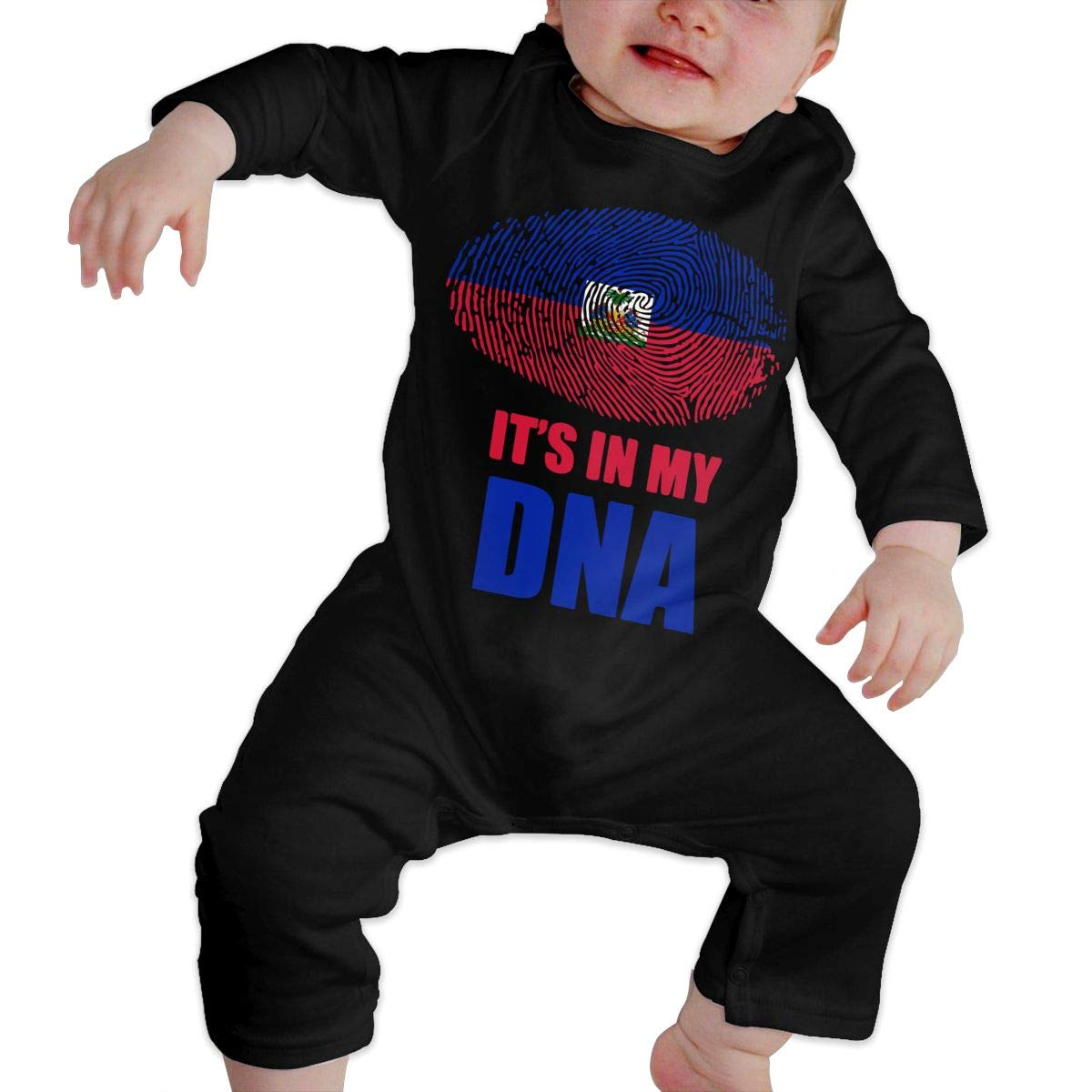 Haitian Its in My DNA Toddler Baby Girls Organic Cotton Bodysuit Jumpsuit Outfits