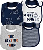 Best Carter's Baby Rattles - Carter's Baby Boys' 4-Pack Teething Bibs (Navy/Lion) Review