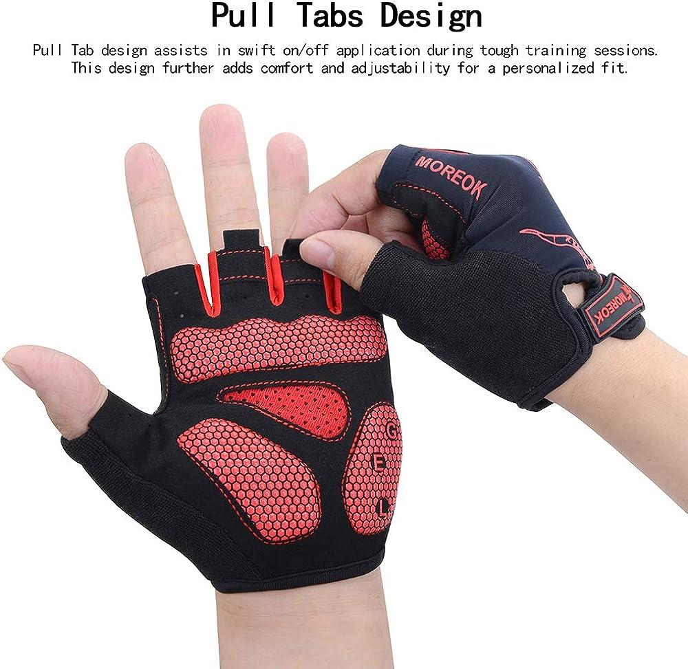 MaYee Biking Gloves Fingerless Half Finger Sports Workout Gloves Outdoor Anti-Slip Breathable Bike Gloves with Shockproof Gel Padded Cycling Gloves for Women Men
