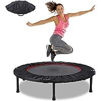 Fitness Trampoline Fitnesstrampolines Ø 102 cmMini Trampoline Bounce Opvouwbaar Tot 130 KG Stabiel Robuust Trampoline…