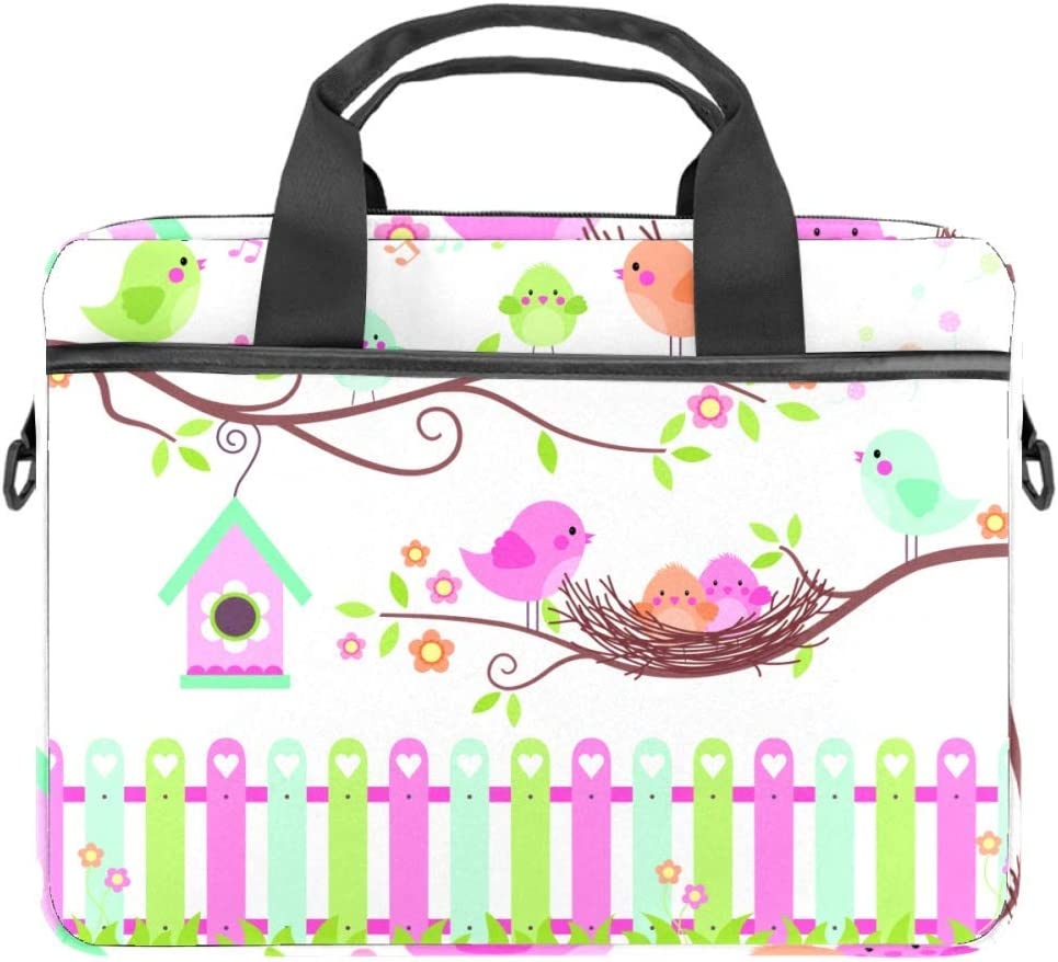 imobaby Singing Birds On Branches Laptop Messenger Shoulder Bag Notebook Sleeve Carrying Briefcase Handbag 15-15.4 inches