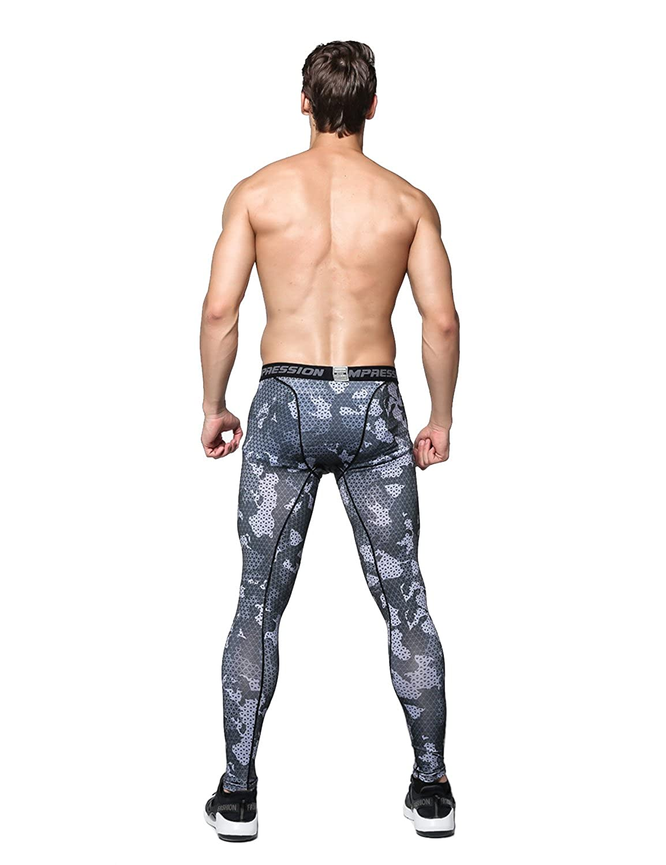 PHIBEE Mens Skin Tight Base Layer Compression Moisture-Wicking Long-Sleeve Under Shirt /& Legging Kangya