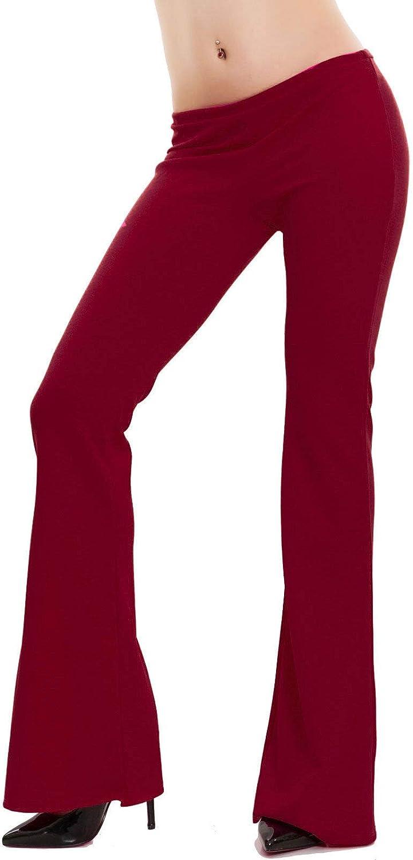 Toocool Pantaloni Donna Campana Aderenti Zampa Elefante Elasticizzati Hot Nuovi AS-2462
