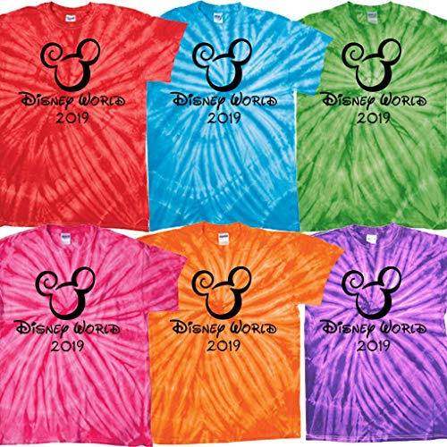 Tie Dye Wall Shirt - Walt Disney World Family Vacation Matching 2019 Tie Dye T Shirt Magic Kingdom (Purple Wall, Adult Unisex Large)