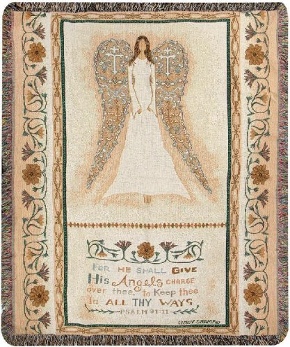Psalm Throw - Manual Inspirational Collection Tapestry Throw with Verse, All Thy Ways X Cindy Shamp, 50 X 60-Inch