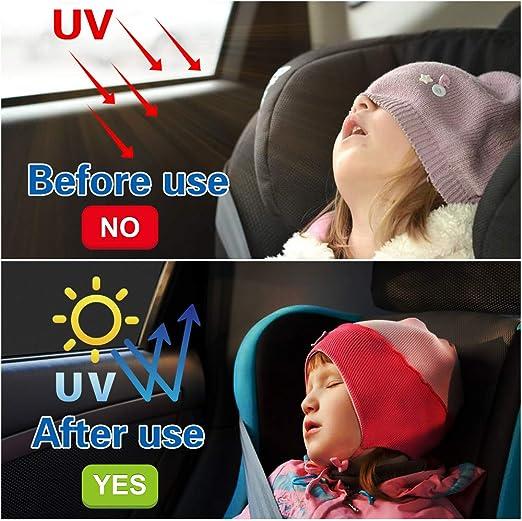 Fealing Sonnenschutz Auto 2 Stück Sonnenschutz Auto Baby Mit Uv Schutz Sonnenblende Auto Kinder Seitenfenster Autofenster Sonnenschutz Frontscheibe Auto Schützt Mitfahrer Baby Kinder Haustiere Auto