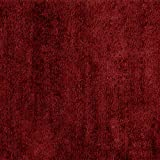 Garland Rug Traditional Plush Washable Nylon Rug, 24-Inch by 40-Inch, Chili Pepper Red
