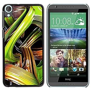 [Neutron-Star] Snap-on Series Teléfono Carcasa Funda Case Caso para HTC Desire 820 [Serpiente 3D Arte Líneas abstractas de plástico]