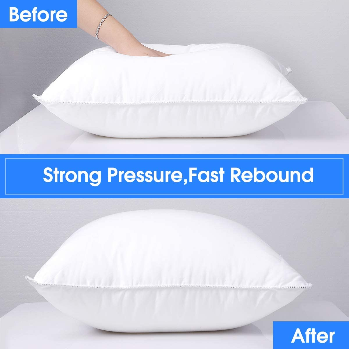 Hypoallergenic Stuffer Pillow Inserts Sham HOMEIDEAS Throw Pillow Inserts 18x18 Inch 100/% Cotton Couch Pillow Inserts 2 Pack