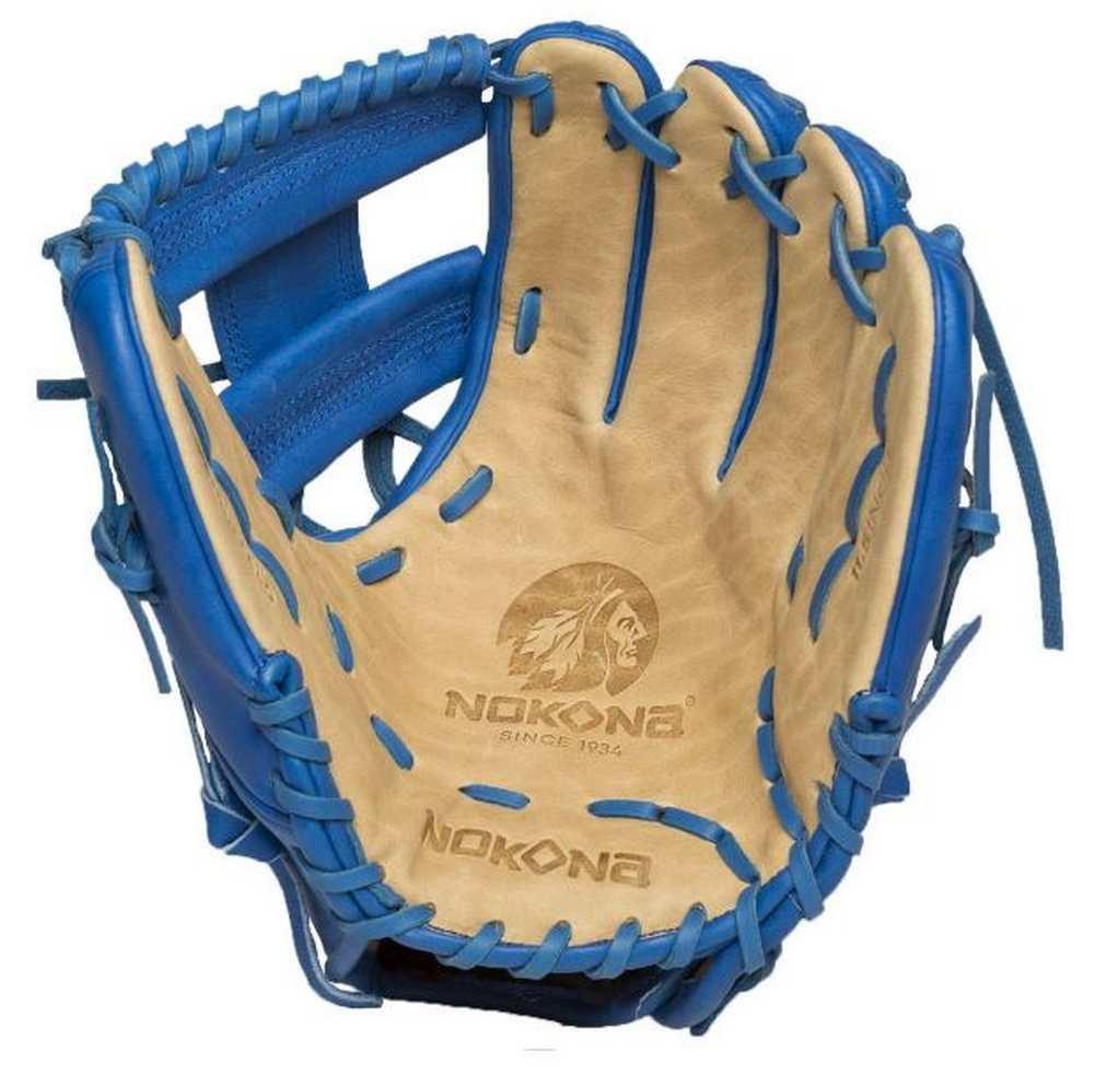 Nokona SKN Series 11.5 Inch SKN-6-RY Baseball Glove Royal Lacing