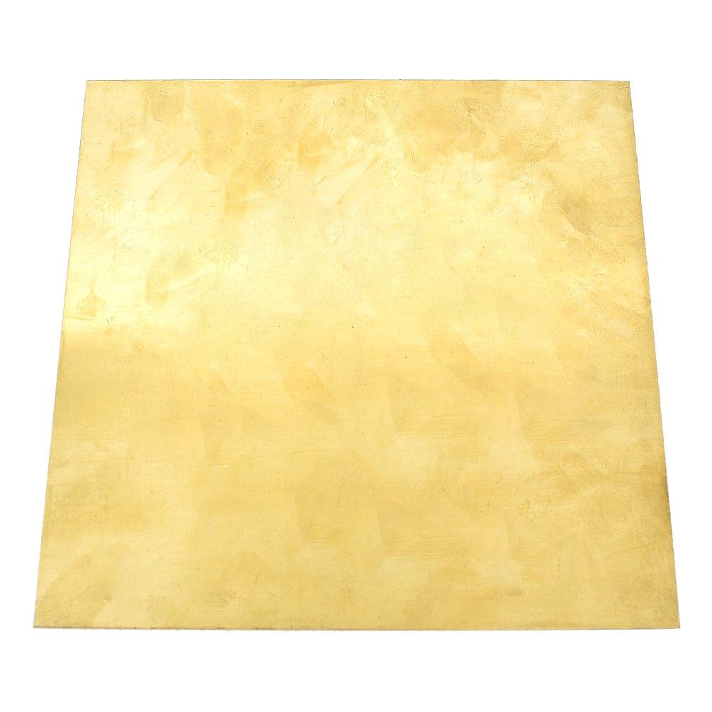 Kesheng Metall Messingblech Messingplatte Quadrat Golden Oberflä che DIY 200 x 200 x 0.5mm