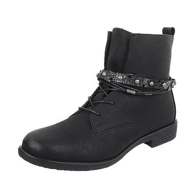 Cingant Woman Damen Schnürstiefeletten/Schnürer/Knöchelhohe Stiefel/Halbhohe Stiefel/Blockabsatz/Grau, EU 39