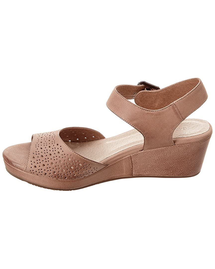 Chocolat Blu Yin Leather Wedge Sandal, 8, Beige B07D6CVLJ9 Parent
