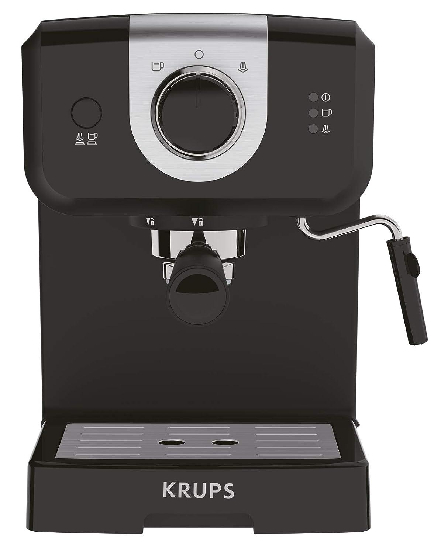 calentador de taza y espumador de leche negro/plata Cafetera 15 ...