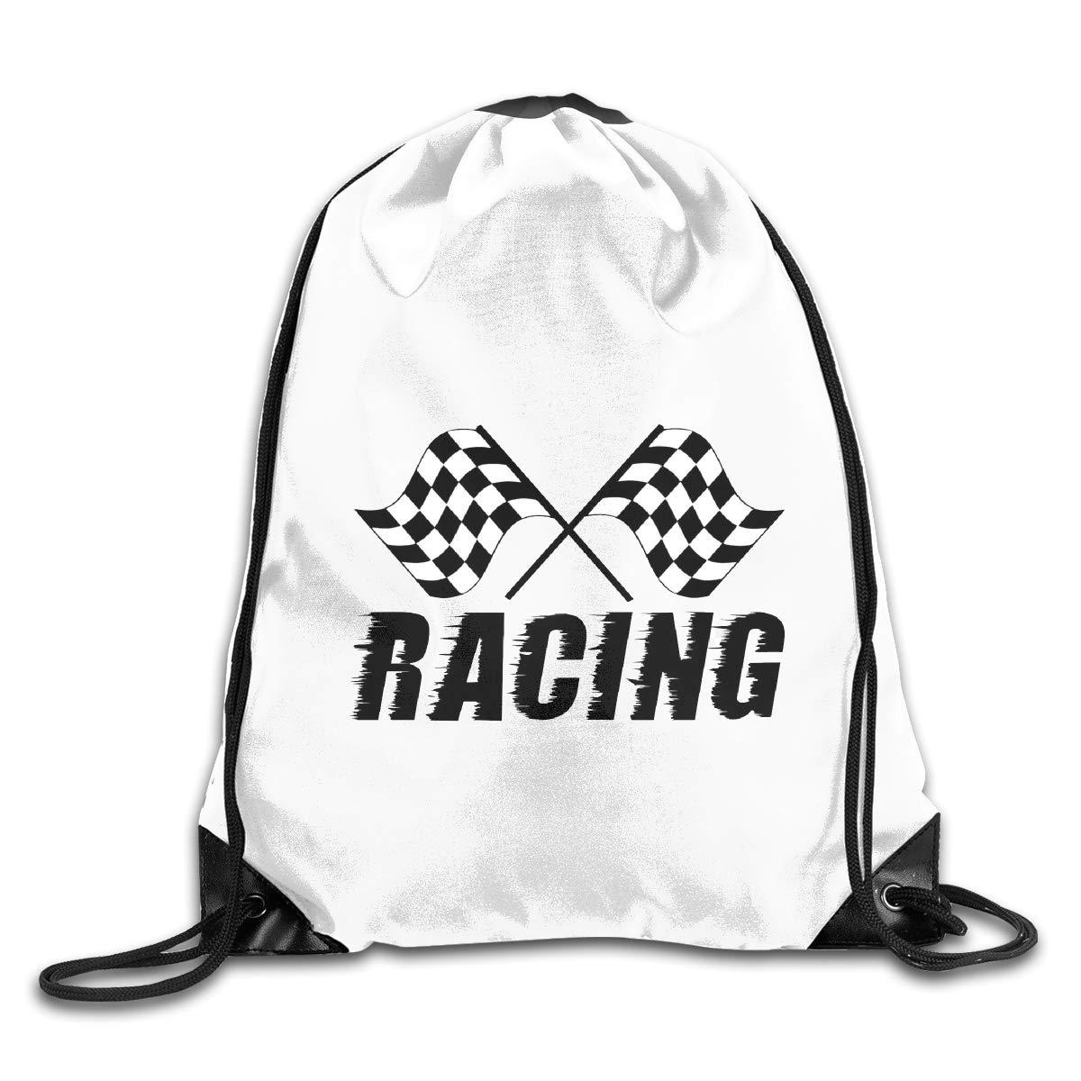 Racing Flags Check Clip Art Drawstring Bags Eat Sleep Dance Repeat Beam Mouth Backpack Basketball Tennis Gympack