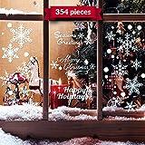 NorNovelties Christmas Snowflake Window Clings – 354 Cling Set - White Xmas & Hanukkah Decorations
