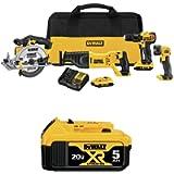 DEWALT DCK423D2 20V MAX 4-Tool Combo Kit with DCB205 20V MAX XR 5.0Ah Lithium Ion Battery-Pack