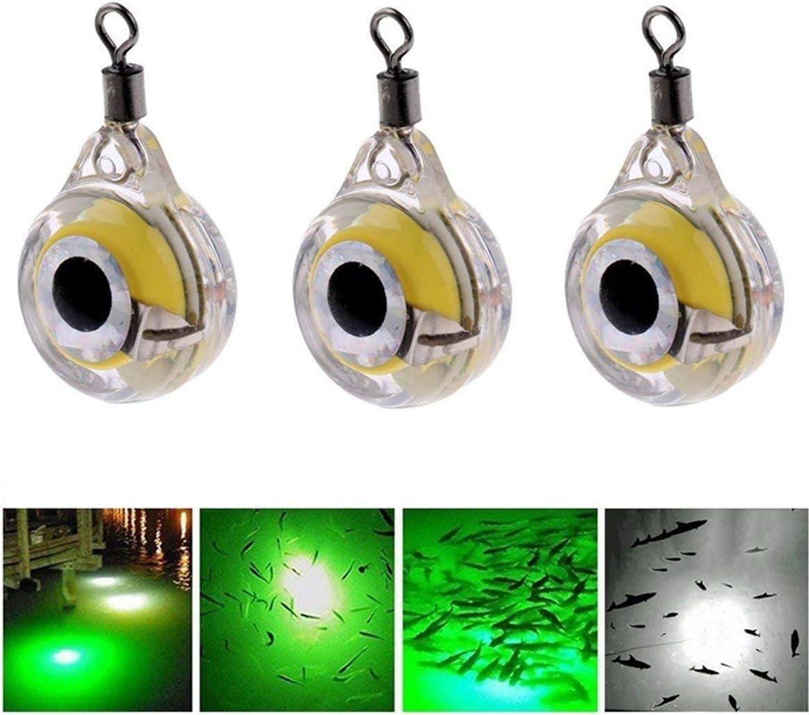 Vert Delicacydex Petite Taille p/êche lumi/ères Nuit lumi/ère Fluorescente LED sous-Marine Nuit lumi/ère leurre pour Attirer Les Fournitures de p/êche LED