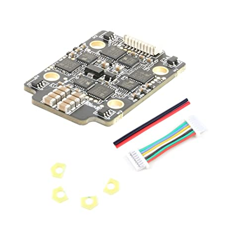 4 in 1 ESC,Rcharlance Blheli_32 ESC Brushless Electronic Speed Controller  with Auto Timing Function Support 2-6s Lipo Input Dshot1200 for FPV Racing