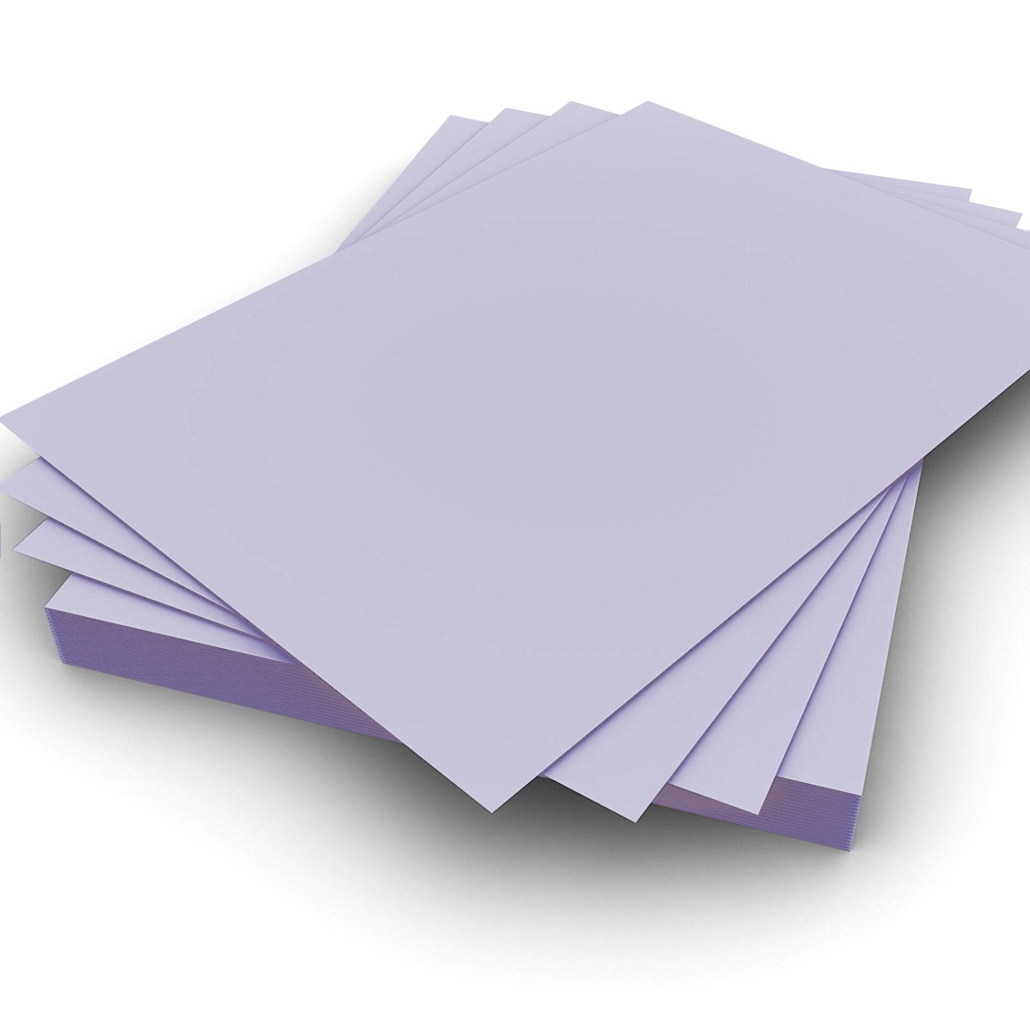 A5 160gsm Plain Pastel Lavender Card Pack of 100 Perfect for Crafting, Card Making, Invitations for birthdays weddings and special occasions - by Party Decor