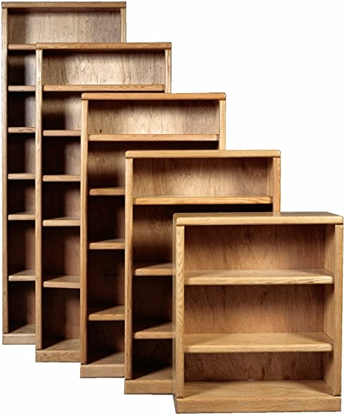 Forest Designs Bull Nose Bookcase Six Shelves Whitewash Oak