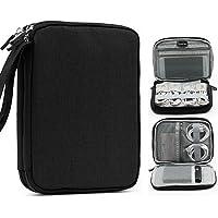 Aolvo - Organizador de Cables Accesorios electrónicos portátiles de Doble Capa Tarjetas SD Tarjetas de Memoria (Negro)