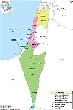 Israel Mapa Político – LAMINADO (36
