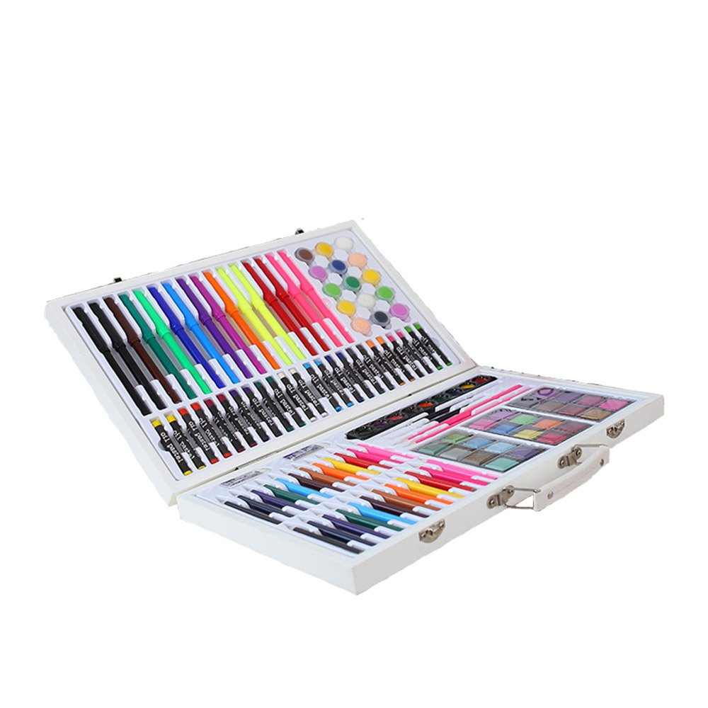 JIANGXIUQIN Artist Art Drawing Set, Good Tools for Drawing Or Sketching, 119 Pieces of Graffiti, Colors, School Items to Add Colorful Styles, Creative Gifts. Gifts for Children and Children.
