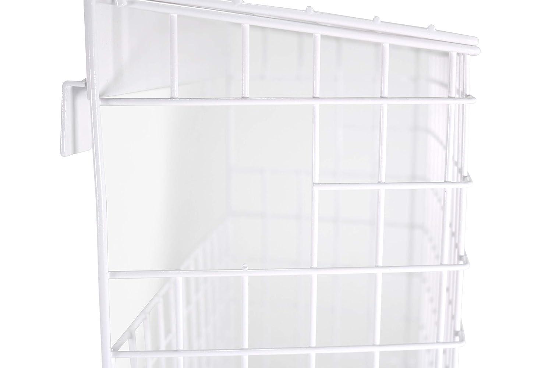 Willms Buz/ón Tipo Jaula Adecuado para Todo Tipo de Puertas Incluso Puertas Blancas de PVC R/ígido No se Necesitan Tornillos para Fijar la Cesta de Correo de Acero Incluye un Abrecartas