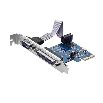 RS232 COM1 DB9 Serial  DB25 Parallel Port LPT1 PCI-E Card