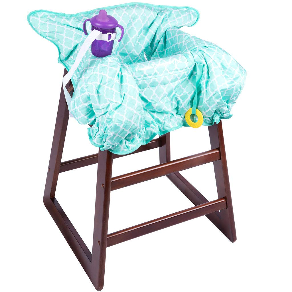 Shopping Cart & High Chair Cover: 2 in 1 Baby Seat Cushion Pad & Germ Protector Jomolly