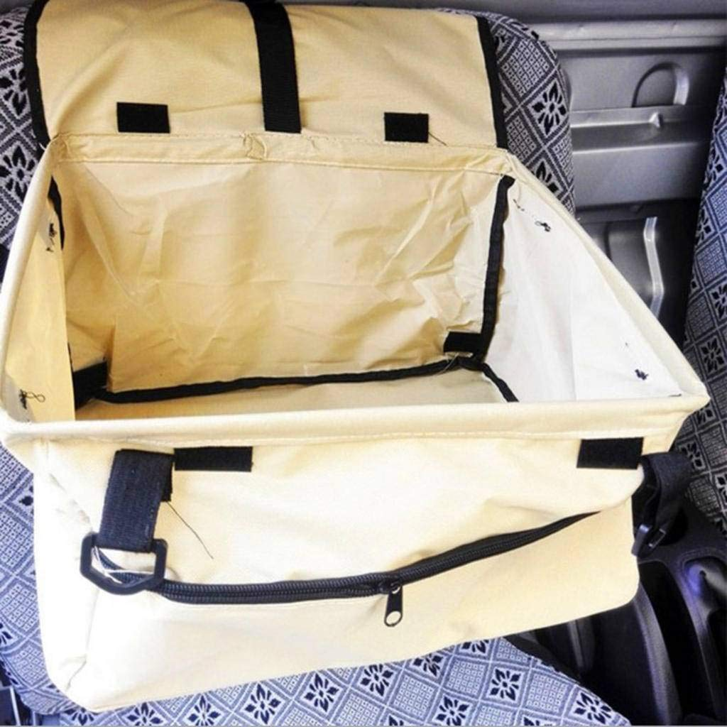 HAHY Dog Car Seat, Waterproof Breathable Pet Dog Cat Car Booster Seat Deluxe Portable Travel Car Carrier Bag for Small Dogs Puppies