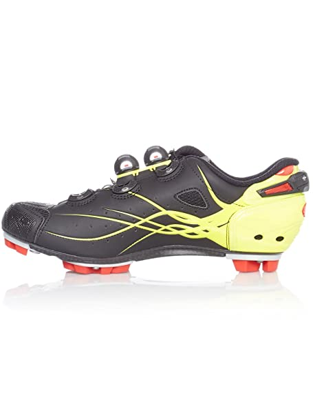 Amazon.com : Sidi Tiger Carbon SRS MTB Cycling Shoes - Matt Black/Yellow Fluo (40 EUR [US 7]) : Sports & Outdoors