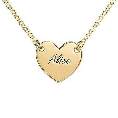 f704db4e66573 Amazon.com: Heart Shaped Pendants - Custom Engraved Any Name on ...