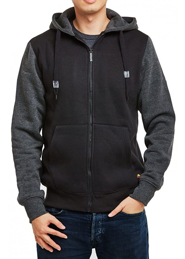 Full Zipped /& Pullover KNOCKER Mens Classic Heavy Duty Fleece Hoodies