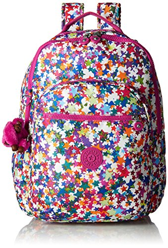 Seoul L Solid Laptop Backpack, Kaleidoscope Block by Kipling