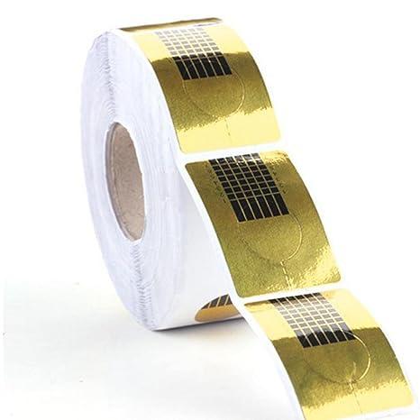 Demiawaking - 100 moldes para realizar extensiones de uñas, con gel UV o acrílico,