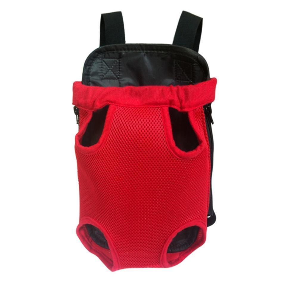 A LargeDixinla Pet Carrier Backpack NET cloth chest Bag double shoulder portable dog bag cat cage