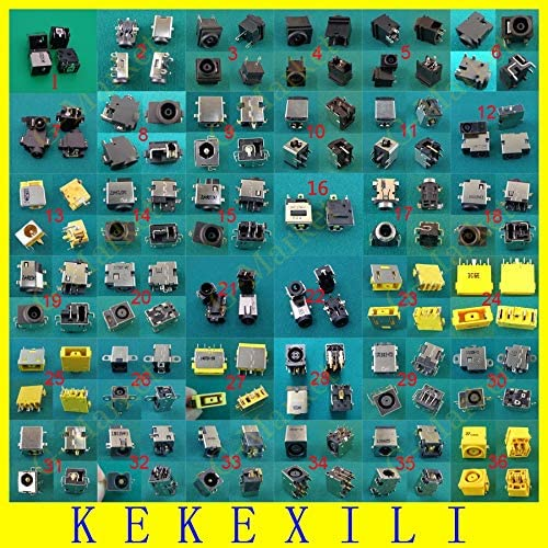 ShineBear Wholesales 36Models 36pcs Laptop DC Power Jack,DC Power Socket for Asus Samsung Lenovo HP Dell LG Sony Acer AC Connector Cable Length: Other