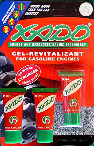 3 Pack Lot of XADO Restoration for Gasoline Engines Gel-revitalizant (X3)