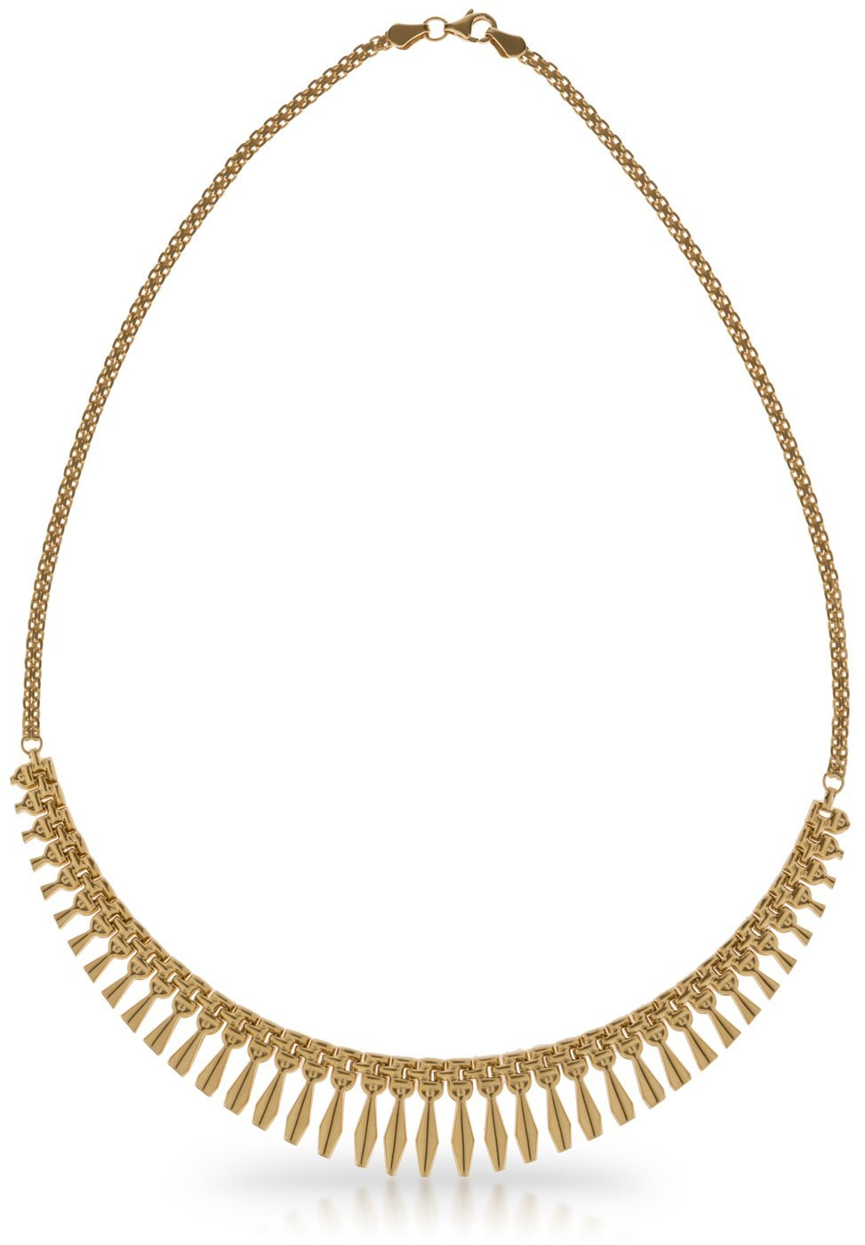 SilverLuxe 925 Sterling Silver Gold Plated Collar Style Cleopatra Necklace