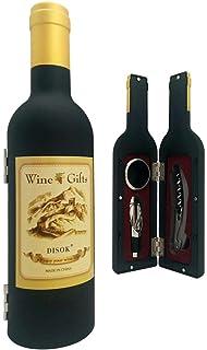 Disok Set 3 piezas en estuche forma botella de vino Multicolor (4650