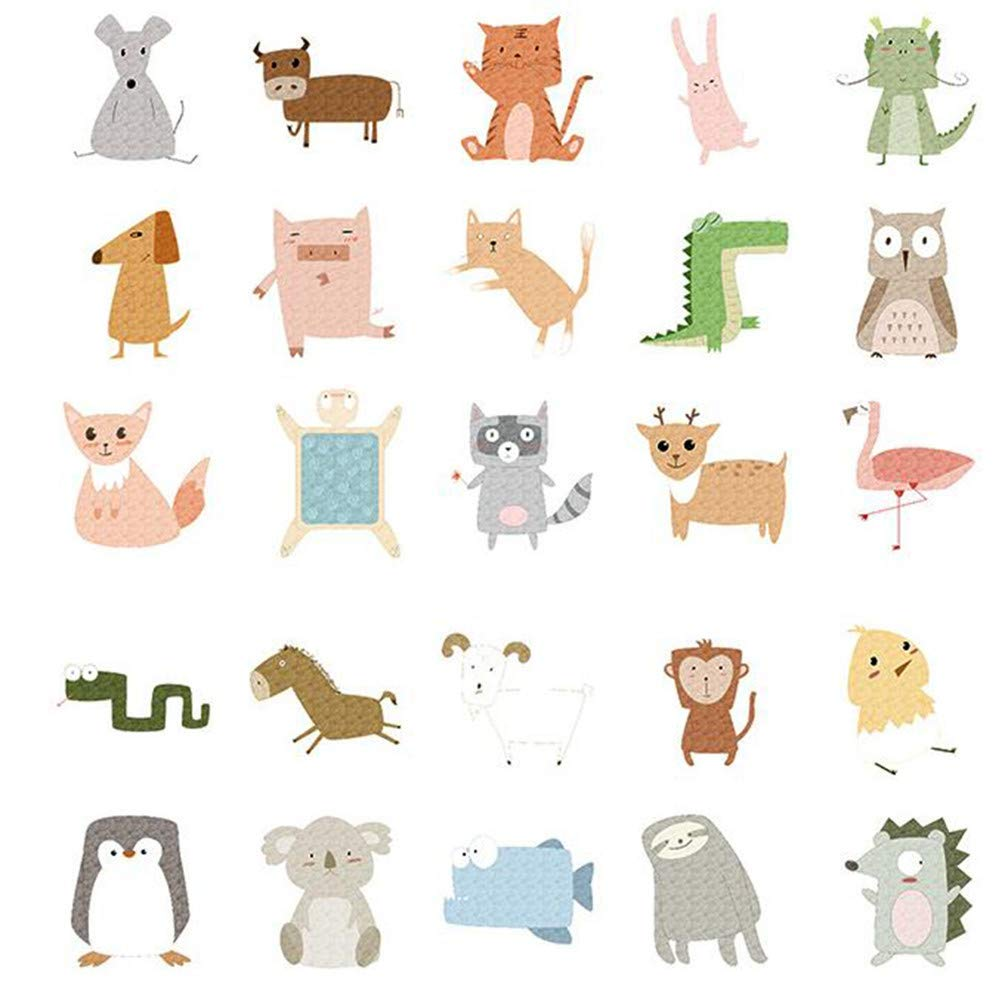 Tcplyn Premium Quality 50 Pcs Forest Animals Graffiti Style Stickers for Motorbike Car Suitcase Portable Stickers
