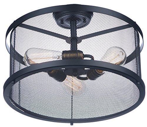 Maxim Lighting 20110BKNAB Palladium-Semi-Flush Mount - Lighting Maxim Ceiling Fan Brass