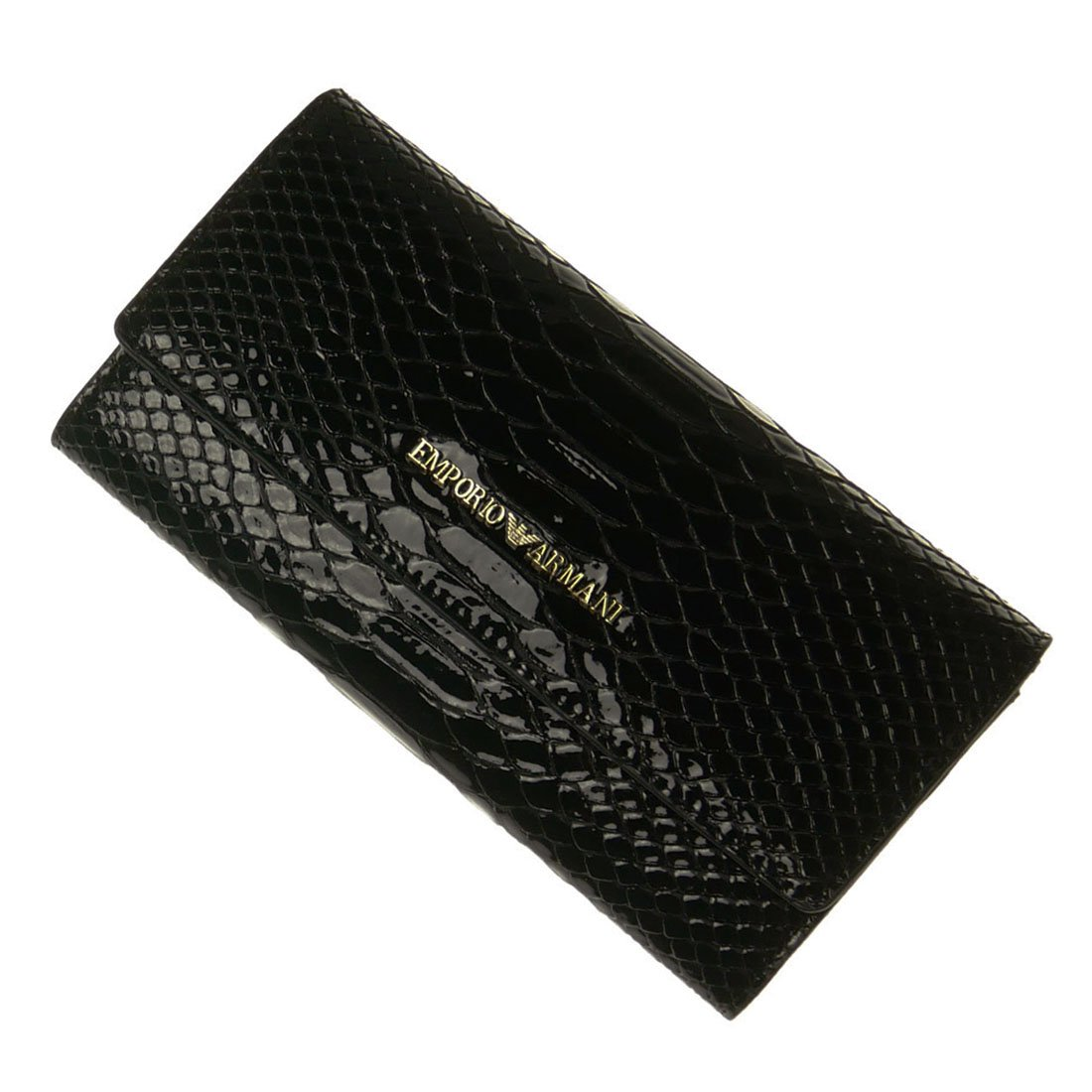 [EMPORIO ARMANI(エンポリオアルマーニ)] レディース長財布(小銭入れ付き) Y3H008 YH20A ブラック B07BBM7T9L
