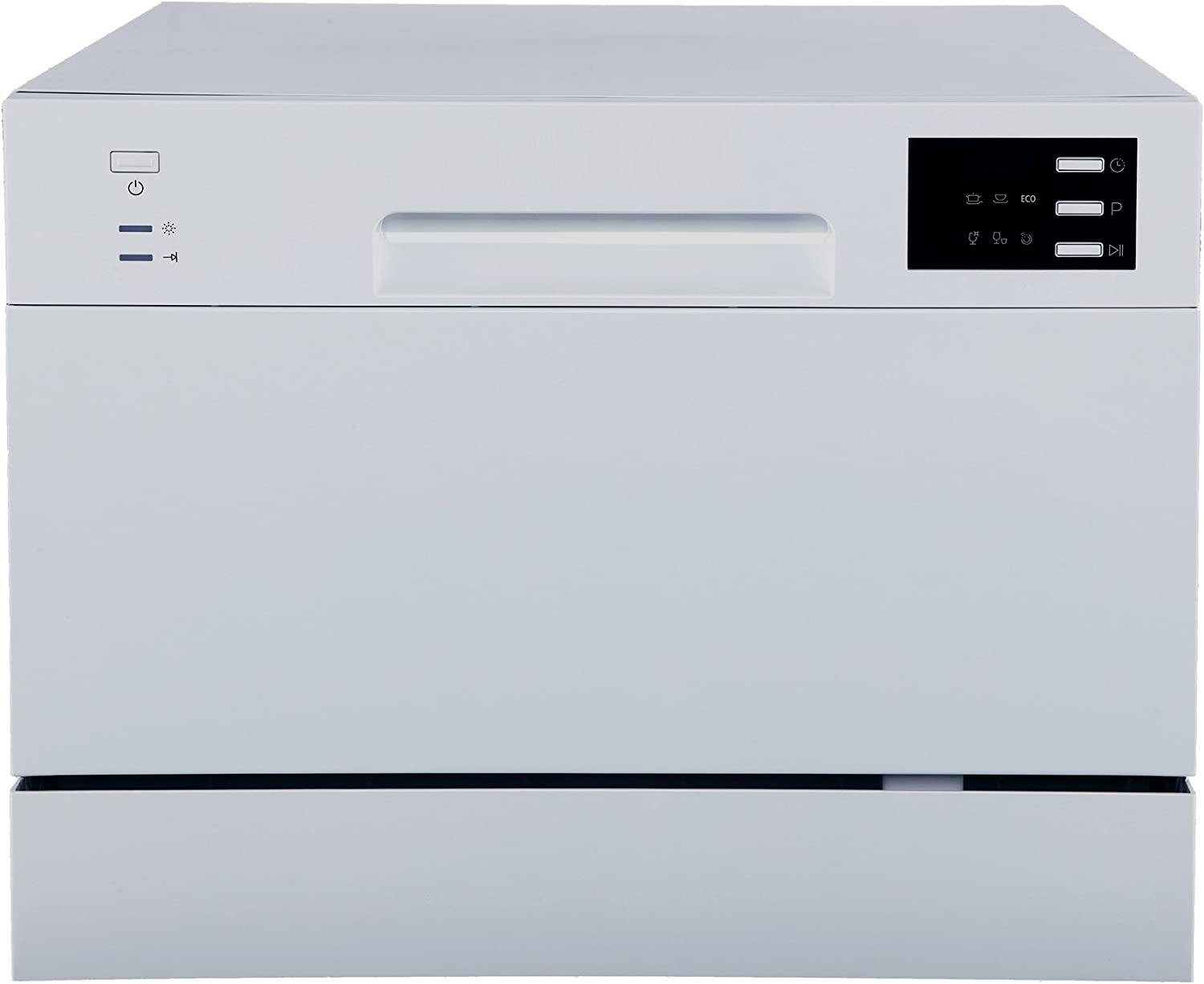 SPT SD-2225DS Compact Countertop Dishwasher/Delay Start-Energy Star Portable Dishwasher with Stainless Steel Interior and 6 Place Settings Rack Silverware Basket/Apartment Office Home Kitchen, Silver