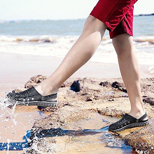 Grey Scivolo Mule Pool Mens On Bagno Slip Zoccoli Tqgold Pantofola 11 Garden black Taglia Estivo Spiaggia Sandali Da 1OAYZx