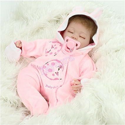 "Handmade Lifelike Realistic 16/"" Sleeping Newborn Vinyl Silicone Reborn Baby Doll"