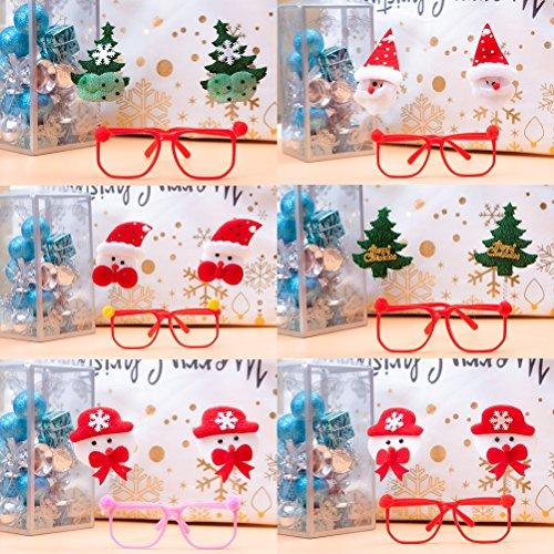 Christmas Party Eye Glasses Cute Plastic Santa Claus Snowman Costume Eyeglass Accessories for Kids Women Favors